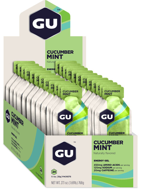 GU Energy Energy Gel Box Cucumber Mint 24x 32g
